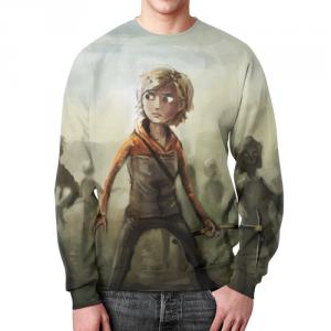 Collectibles Sweatshirt Walking Dead Scene Design Print