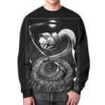 Merchandise Sweatshirt Art Horror Black Psychedelic Print