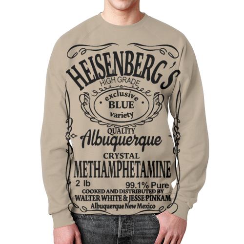 Merchandise Sweatshirt Breaking Bad Text Heisenberg'S Print