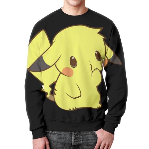 Merchandise Sweatshirt Sweet Pikachu Art Black Yellow