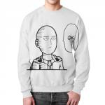 Merch One Punch Man Sweatshirt Painted Saitama