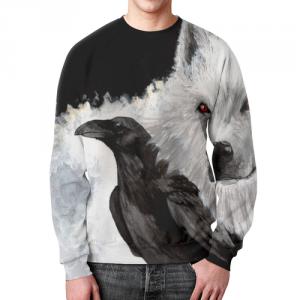 Merch Sweatshirt Game Of Thrones Crow Black Print