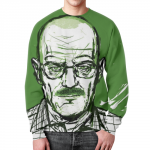 Merchandise Sweatshirt Heisenberg Breaking Bad Green Print