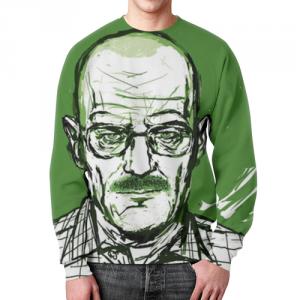 Merch Sweatshirt Heisenberg Breaking Bad Green Print