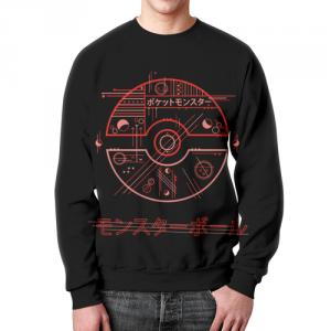 Merchandise - Sweatshirt Pokeball Pokemon Black Merch