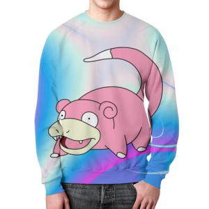 Merchandise - Sweatshirt Slowpoke Pokemon Print Merch