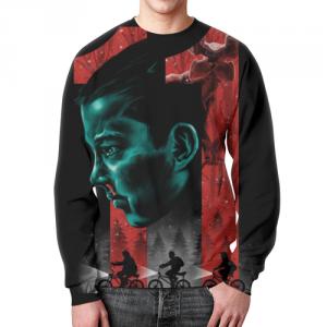 Merch Stranger Things Sweatshirt Eleven Design Black