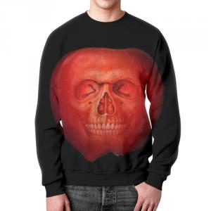 Collectibles Red Apple Sweatshirt Skull Art Skeleton
