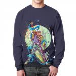 Collectibles - Freddie Mercury Sweatshirt Painted Fan Art