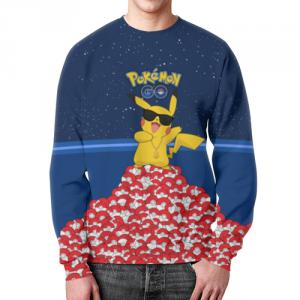 Merchandise - Sweatshirt Pokemon Merch Go Design Print