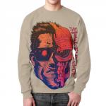 Merchandise Sweatshirt Terminator Face Print Graphic