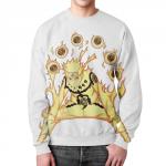 Merch Sweatshirt Naruto Merch White Print