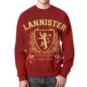 Merch Sweatshirt Game Of Thrones House Of Lannister Red