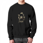 Merchandise Sweatshirt Pulp Fiction Uma Thurman Face Black