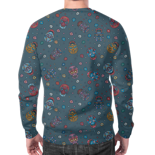 Collectibles Sweatshirt Floral Skull Pattern Jeans