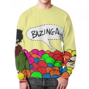 Merch Sweatshirt Big Bang Theory Bazinga Painted