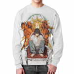 Merch Sweatshirt Death Note Merch White Print