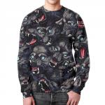 Merchandise Sweatshirt Wolf'S Grin Pattern Design