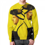 Collectibles Sweatshirt Breaking Bad Design Yellow Print
