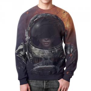 Collectibles Sweatshirt Space Art Lady Cosmonaut