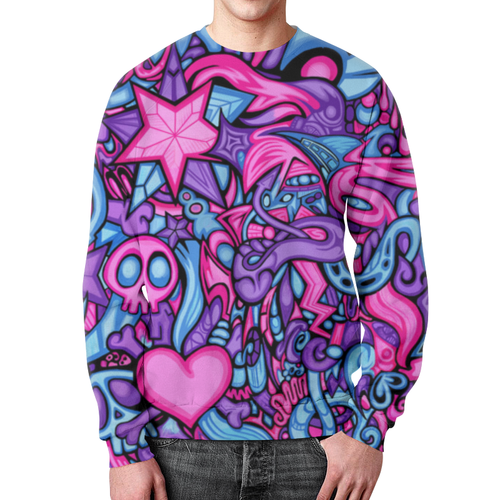Collectibles Pop Culture Sweatshirt Pattern Neon Skull
