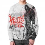 Merchandise Sweatshirt Death Metal Graffiti White