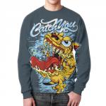 Merchandise Catch You Cartooned Dog Monster Sweatshirt