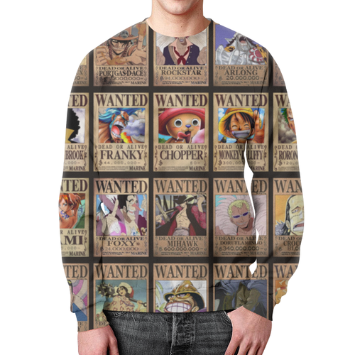 Collectibles One Piece Sweatshirt Wanted Pirates