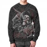 Collectibles Sweatshirt Mirada De La Muerte Skull Print Black