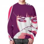 Merchandise Sweatshirt Mia Wallace Pulp Fiction Print