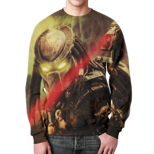 Merch Sweatshirt Predator Portrait Print Hraphic