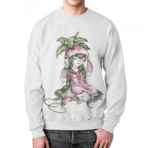 Merchandise Radish Girl Sweatshirt White Print