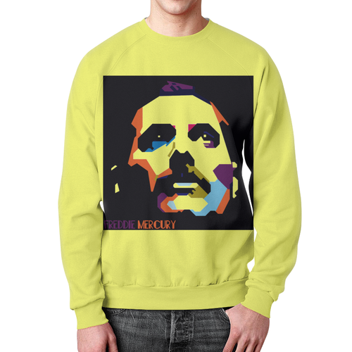 Collectibles Sweatshirt Freddie Mercury Pop Art Yellow