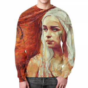 Merch Sweatshirt Daenerys Targaryen Game Of Thrones Print