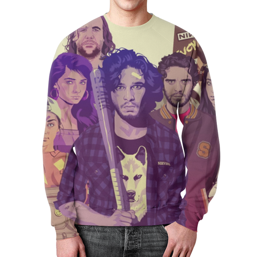 Collectibles Sweatshirt Characters Game Of Thrones Print