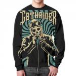 Merchandise Sweatshirt Skeleton Gothrider Image Black