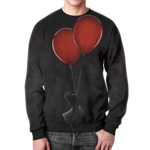 Merch Sweatshirt It Stephen King Black Balloons