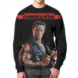 Collectibles Commando Sweatshirt Movie Arnold Schwarzenegger