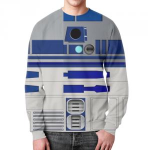 Merch R2D2 Sweatshirt Print Pattern Star Wars