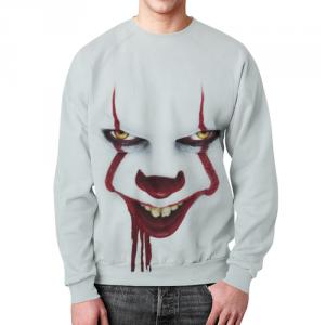 Merch Sweatshirt It Face Design White Print