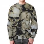 Merchandise Sweatshirt Skulls Image Print Apparel