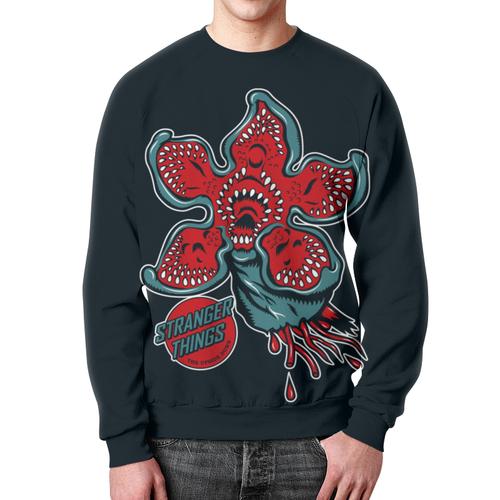 Merch Sweatshirt Strange Things Print Black