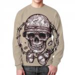 Merch Skull Soldier Sweatshirt Grenades