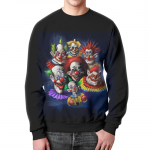 Collectibles Sweatshirt Scary Clowns Circus