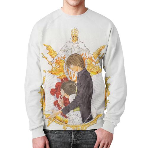 Merch Sweatshirt Death Note White Design Footage Print
