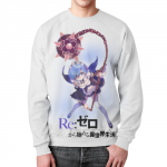 Collectibles Re:zero Rem Sweatshirt Character White