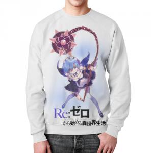 Merch - Re:zero Rem Sweatshirt Character White