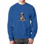 Collectibles Sweatshirt Pulp Fiction Samuel Jackson Blue Design