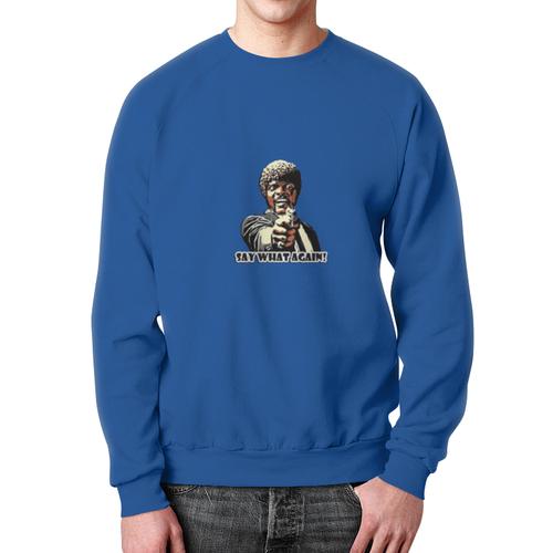 Merch Sweatshirt Pulp Fiction Samuel Jackson Blue Design