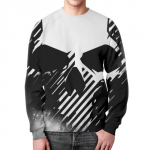 Merchandise Sweatshirt Skull White Print Design